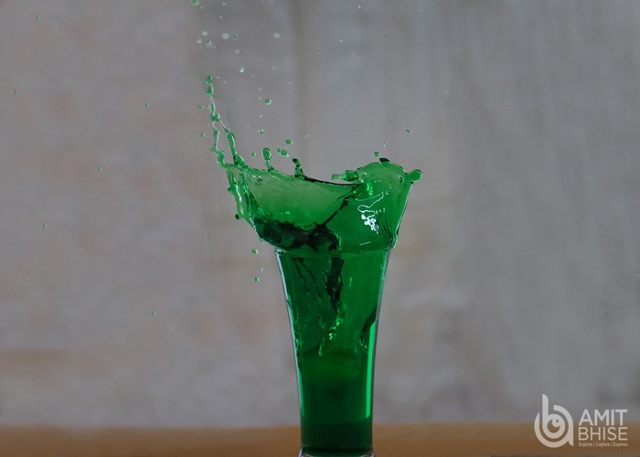 High speed photography of liquid in a glass(1)