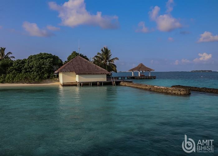 Huts in maldives
